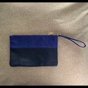 GAP colorblock wristlet clutch with strap & pocket